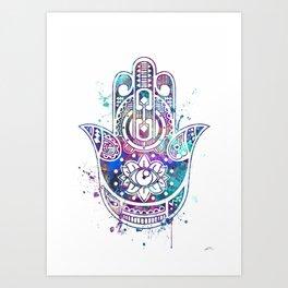 Hamsa Hand Watercolor Poster Wedding Gift Kunstdrucke