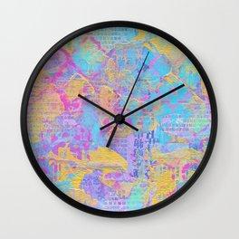 CMYK Mixed Media Collage Wall Clock