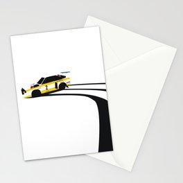 Quattro Slide Rally Car Stationery Cards
