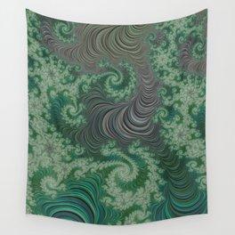 Green Spirals Wall Tapestry