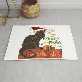 Joyeux Noel Le Chat Noir Christmas Parody Rug