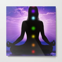 Energy Healing Chakras Metal Print