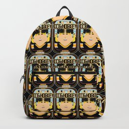 Ice Hockey Black and Yellow - Boardie Zamboni - Hazel version Backpack