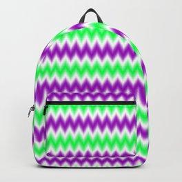 Chevron/Zigzagging Gradual Lavender & Bright Green Color Backpack