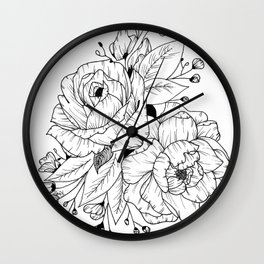 Like Sara's Tattoos Wall Clock