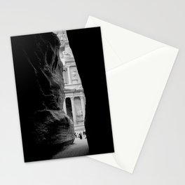 The Treasury Building of Petra as Seen Through the Siq Stationery Cards