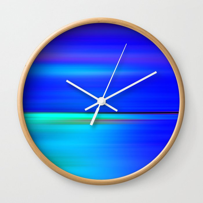 Night Light Abstract Wall Clock By Atteloi Society6