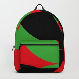 Two four-leaf clovers hugging in a beautiful deep red space. How lucky! Backpack