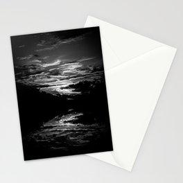 Sundown At Lake Heve 8 bw Stationery Cards