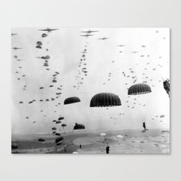 Airborne Mission During WW2 Canvas Print