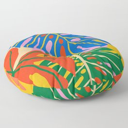 She Always Wears Neutrals But Has The Most Colorful Mind #painting #botanical Floor Pillow