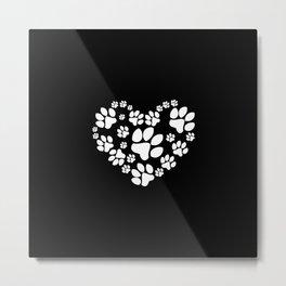 Paws Heart Metal Print