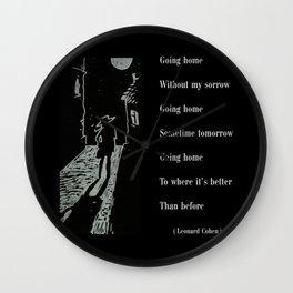 Wanderer - Going Home Wall Clock
