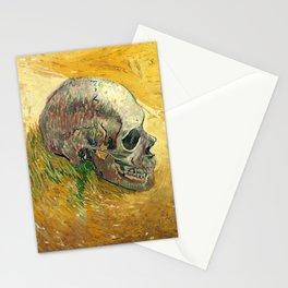 Van Gogh Skull Painting Stationery Cards