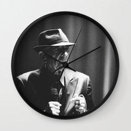 Leonard Cohen concert photo Wall Clock