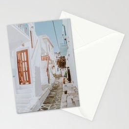 mykonos iii / greece Stationery Cards