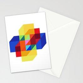 hypercube prism  Stationery Cards