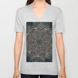 Blue and black Center Swirl Unisex V-Neck