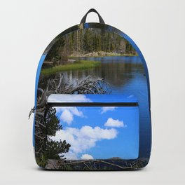 Sprague Lake And Cloud Reflection Backpack