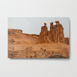 Three Gossips Arches National Park View Metal Print