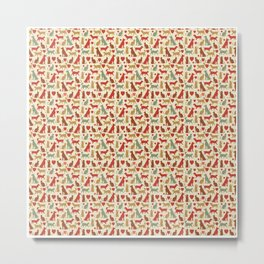 Dog Pattern | Puppy Pet Dog Owner Breed  Metal Print