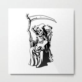 Grim sitting on the throne Metal Print