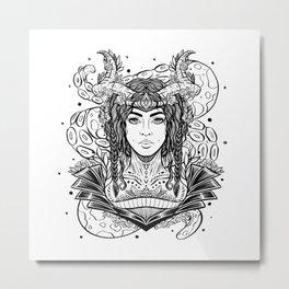 Viking Maiden (Daily Sketch Series) Metal Print