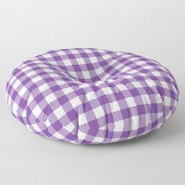 Plaid (purple/white) Floor Pillow
