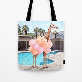 Giraffe Palm Springs Tote Bag
