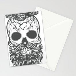 Hipster sugar skull 2 Stationery Cards