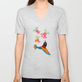 Flower and bird Unisex V-Neck