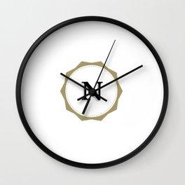 Vintage Letter N Monogram Wall Clock