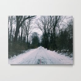 lonely cold walk Metal Print