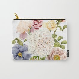 Radiant Blooms Watercolor Bouquet Carry-All Pouch