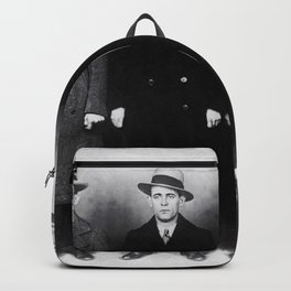 The Syndicate - 'Lucky' Luciano & New York gangsters Ed Diamond, Jack Diamond, & Fatty Walsh black and white photography / photographs Backpack