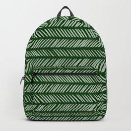 Forest Green Small Herringbone 1 Backpack