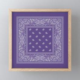 Bandana - Southwestern - Ultra Violet Framed Mini Art Print