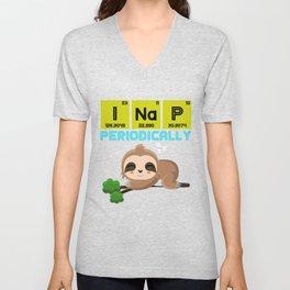 Funny Chemist Sloth Unisex V-Neck