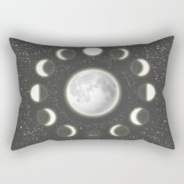 Telescope Dreamy Shine-Phases of the Moon Rectangular Pillow