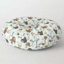 Mocha & Paper Airplanes Floor Pillow