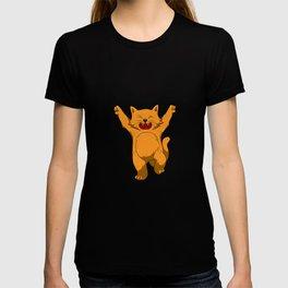 Jubilation Cat Dance Emote Funny Gift T-shirt