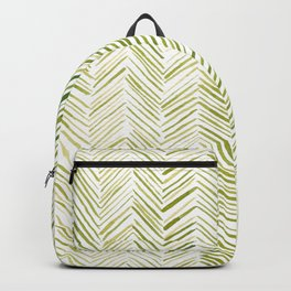 Watercolor Herringbone Pattern - Chartreuse Backpack