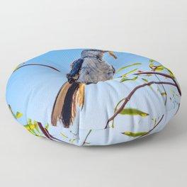 Northern Mockingbird Meal Floor Pillow