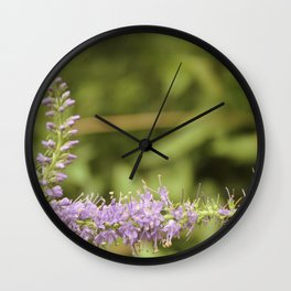 Purple Abstract Flower Vintage Wall Clock