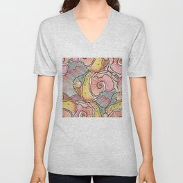 Sea Spirals Unisex V-Neck