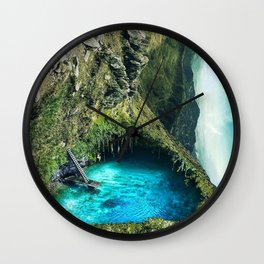Natural Pool Wall Clock