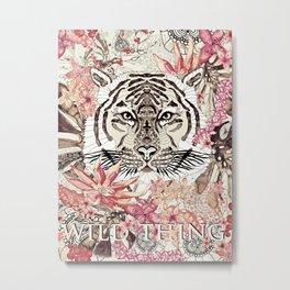 TIGER - WILD THING JUNGLE Metal Print