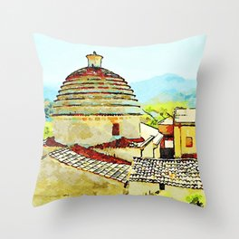 Convent building with dome Throw Pillow