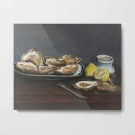 Édouard Manet - Oysters Metal Print