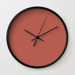 Deep Red-Orange Solid Color Pairs To Benjamin Moore Rosy Peach 2089-20 Wall Clock